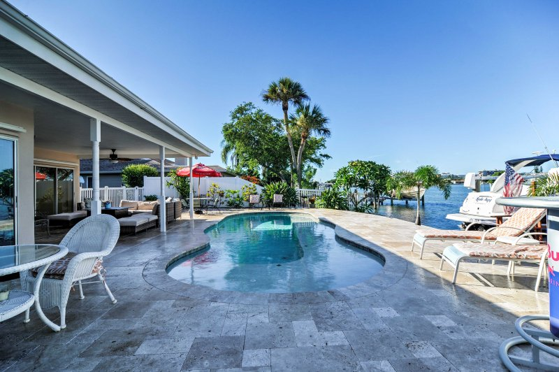Have the beach retreat of a lifetime when you stay at this marvelous St Pete Beach vacation rental home.