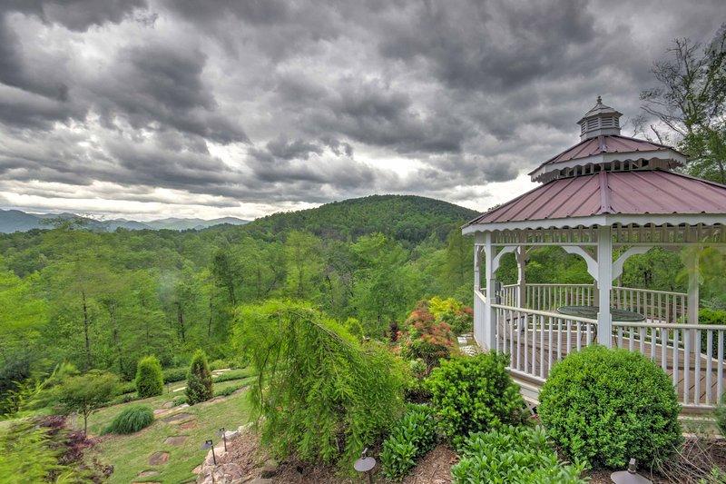 A relaxing mountainside retreat awaits you at  'Dogwood Ridge!'