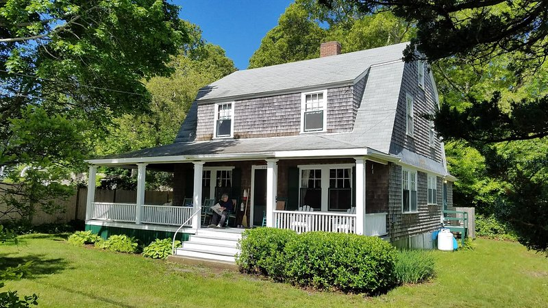 Spacious, ocean view, residential beach cottage near historic Plymouth, MA, vacation rental in Manomet