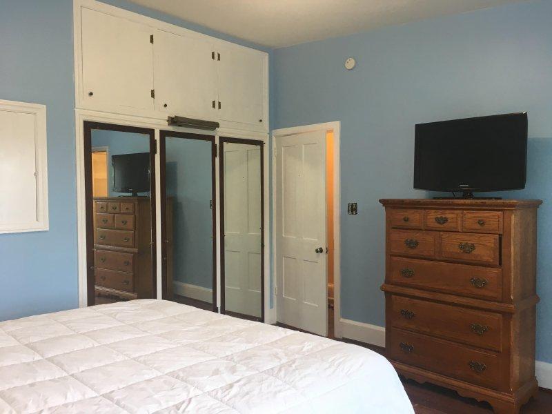 Blue Room - cama de matrimonio y TV de pantalla plana