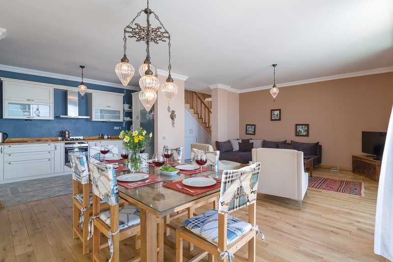 Trio - living, dining and cooking