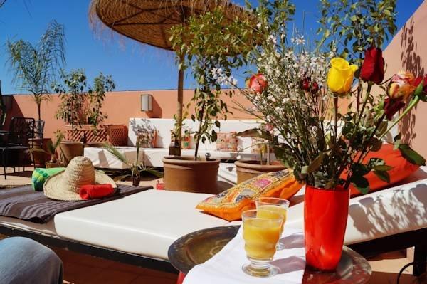 Terrasse auf den Dächern von Marrakesch