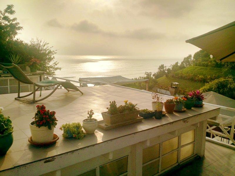 terrasse vue sur l'océan