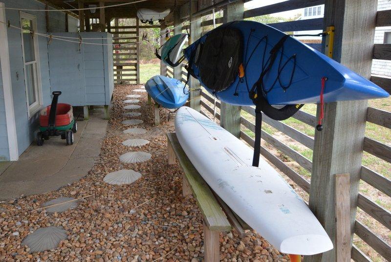 Kajaks en paddleboard beschikbaar