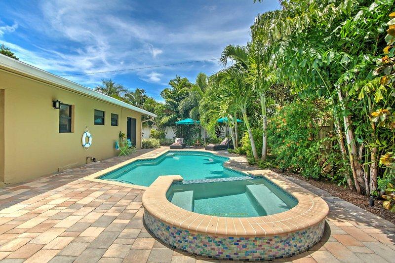 Descubra Fort Lauderdale a partir desta casa de férias de 3 quartos e 2 casas de banho!
