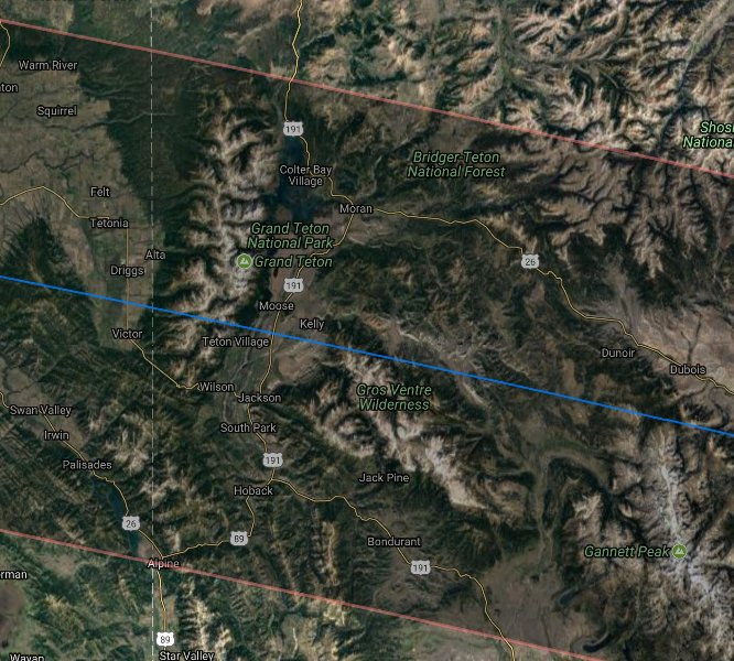 Courtisy NASA & Google Maps
