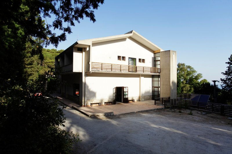 The front view of Hostel