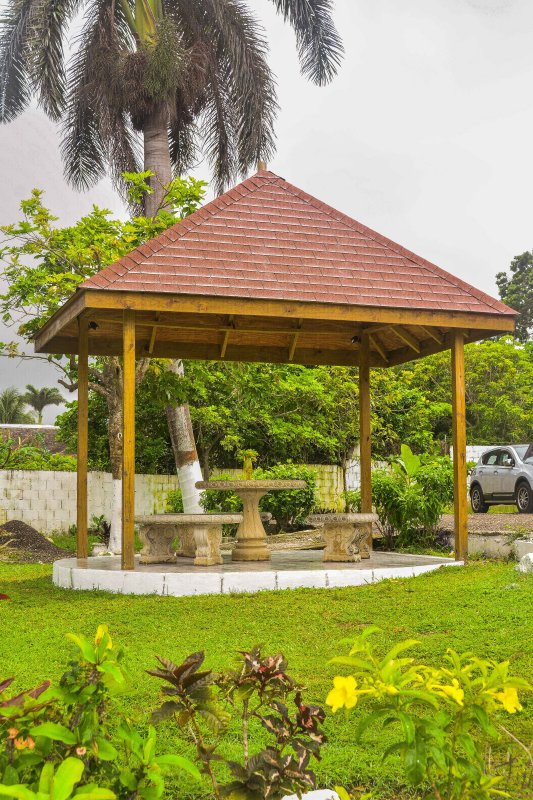 Garden Gazebo overlooking our beautiful indigenous landscaped gardens