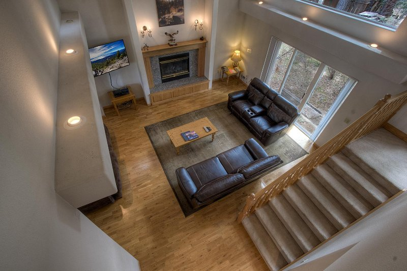 Cheminée, Foyer, bois, intérieur, Chambre
