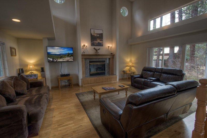Canapé, meubles, écran, TV, Télévision