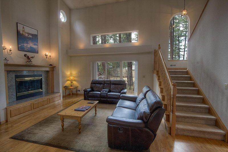 Canapé, meubles, Banister, Main courante, Escalier