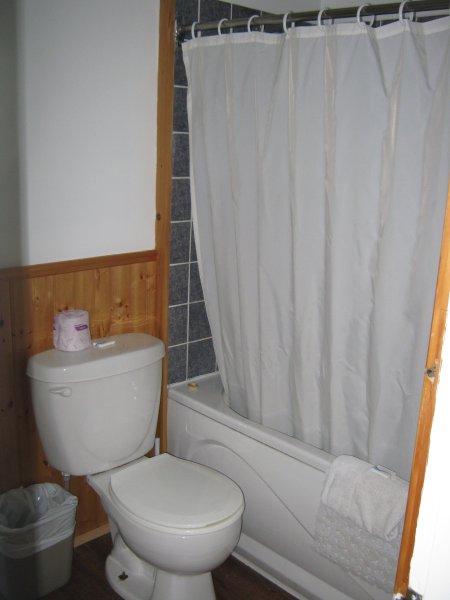bañera y ducha en un baño