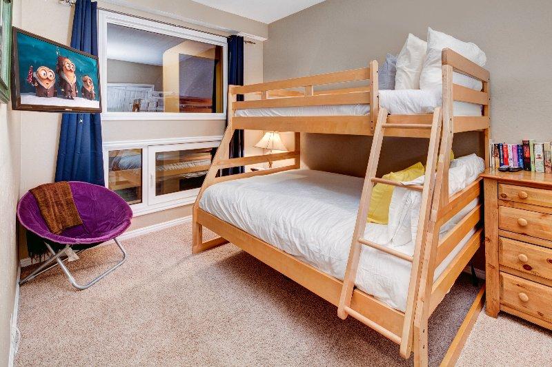 Bedroom3 -  twin/full bunk and flatscreen TV