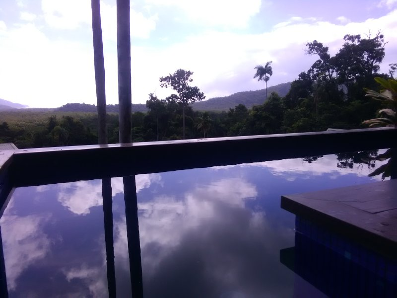 Meerblick vom Pool Cape Tribulation.