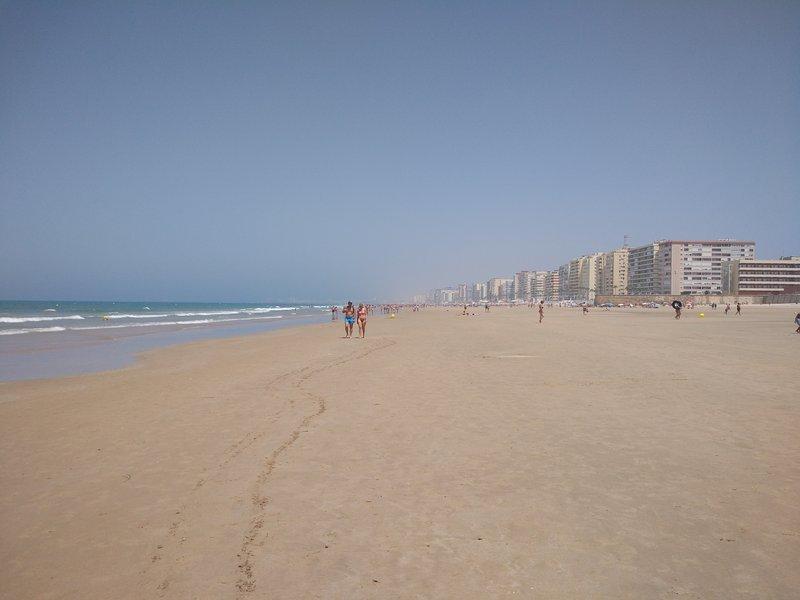 Cutting beach in Cadiz