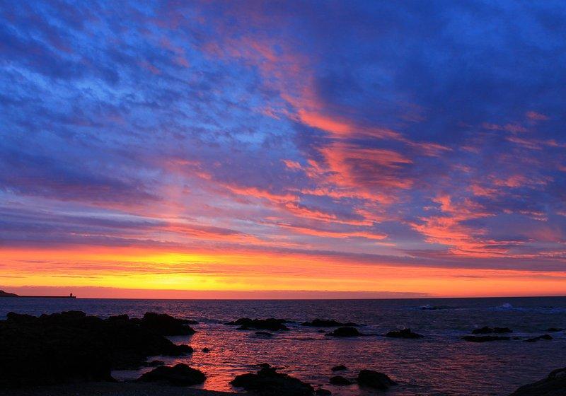 sunset over Sandy Beach