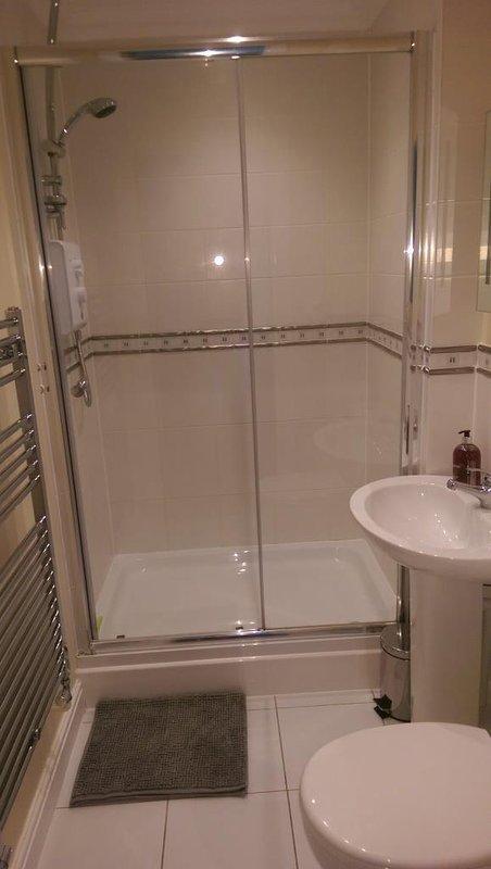 En suite shower room to master