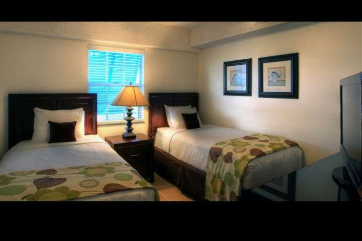 This is a sample photo of one of the many available suites at Ocean Pointe. Rooms are assigned during check-in and are all uniquely decorated.