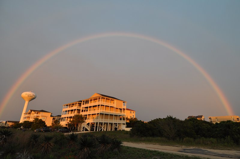 Rainbow over the house at OIB, June 8, 2017.