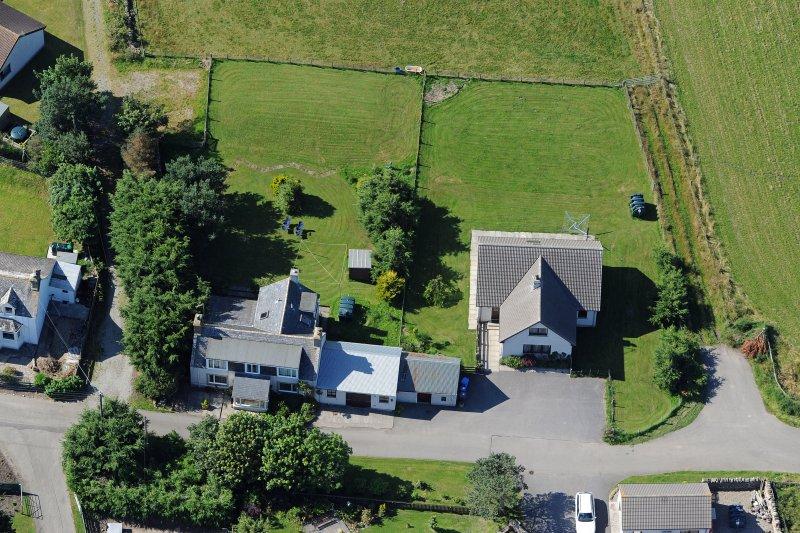 Vista aérea de The Paddock (derecha) El Viejo Croft (izquierda)