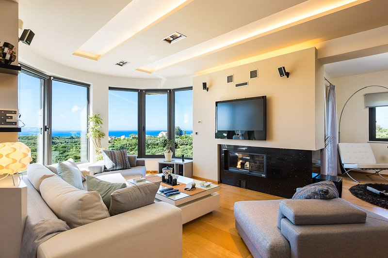 Living room ground level with sea view