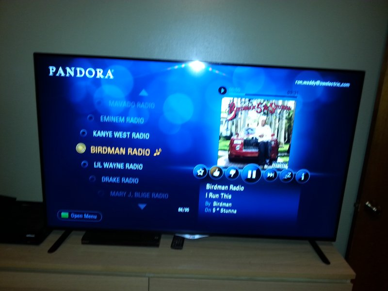 60' LG Smart TV in first bedroom for YouTube, Pandora & Internet.