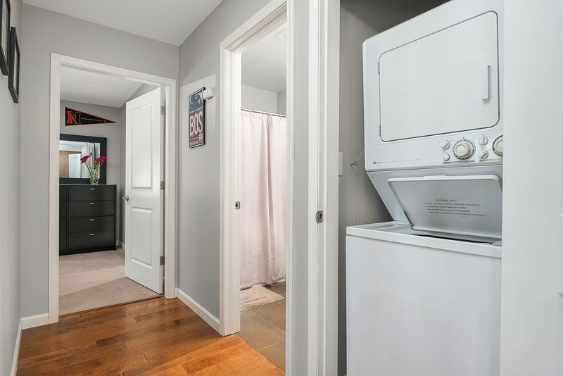 The home is equipped with a full-size washer and dryer