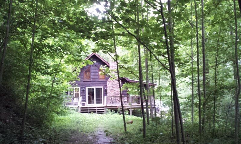 big rock log cabin pet friendly secluded at natural bridge red rh tripadvisor com