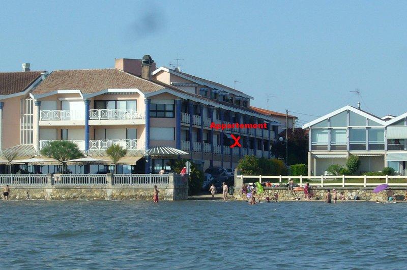 Appartement dans Résidence 1ère ligne Andernos, vacation rental in Claouey