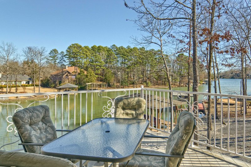 Have the ultimate lakefront retreat at this Hot Springs Village vacation rental!