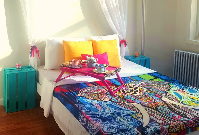 Colorful and bright rooms