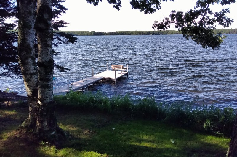 The home has a private dock!