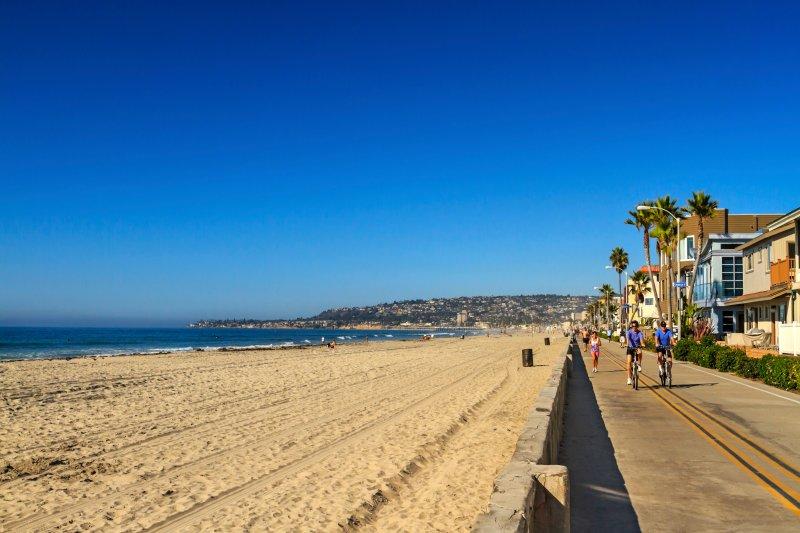 À quelques pas de la célèbre promenade de Mission Beach et des grandes plages de sable fin - l'endroit idéal pour se détendre et jouer!
