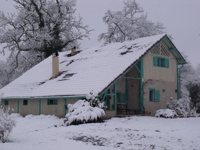 Maison une journée d'hiver