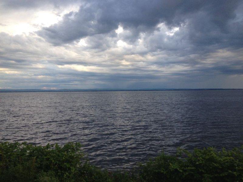 north shore view of Oneida Lake