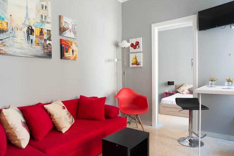 Acogedor y colorido salón.