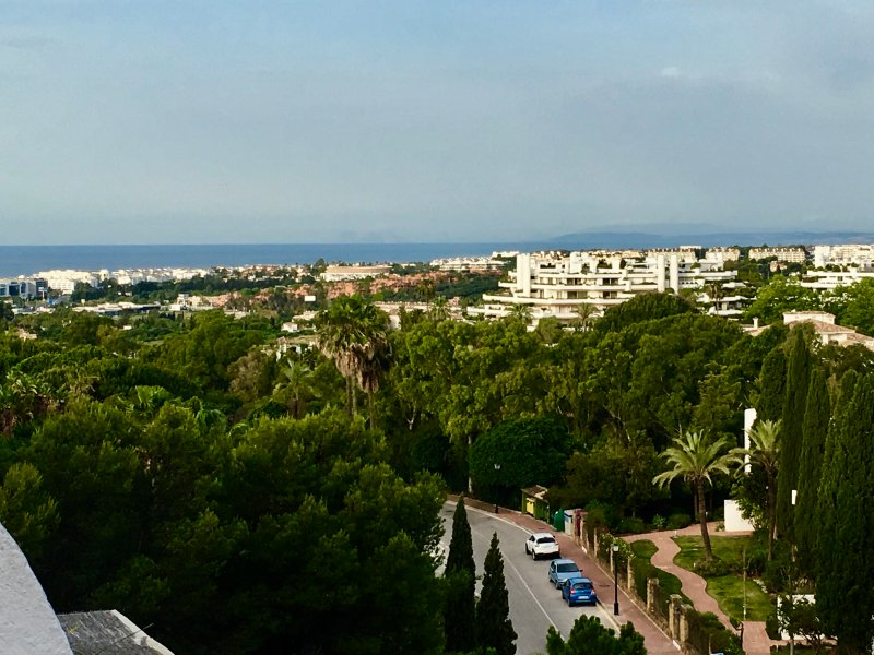 View towards the Med and the Gib