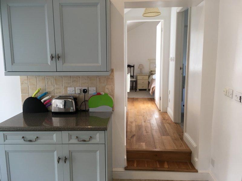 Kitchen looking towards the bedroom