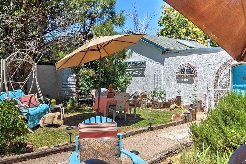 Lounge op het terras onder het genot van uw favoriete drankje.