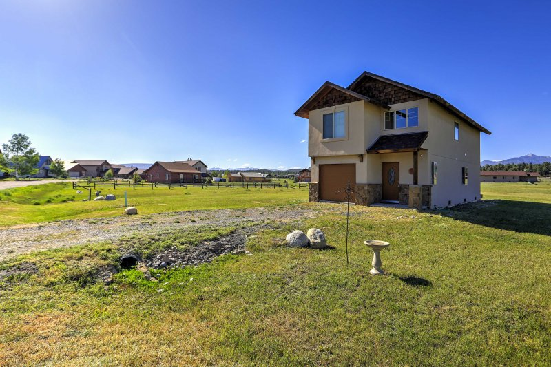 Escape to this 3-bedroom, 2.5-bathroom vacation rental house in Pagosa Springs with 1,500 square feet of living space and a large yard!