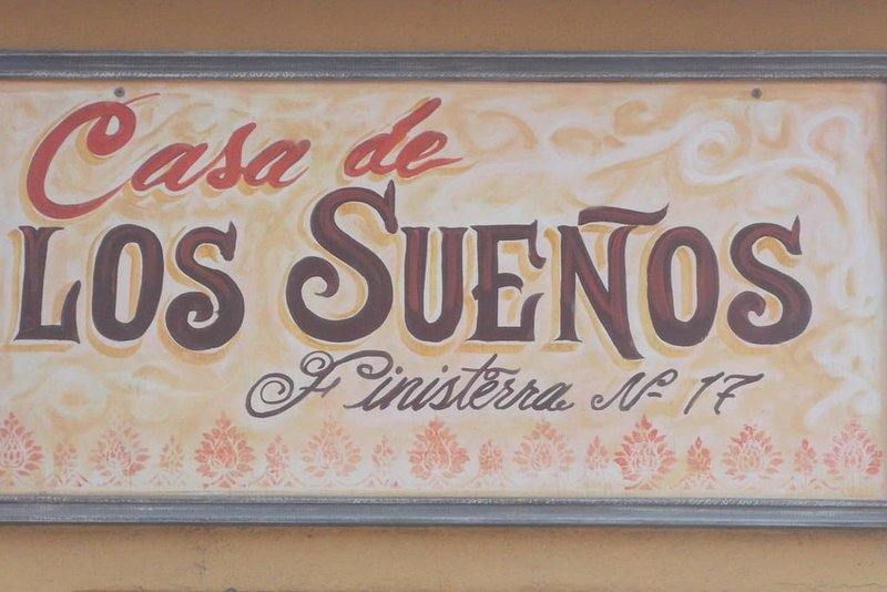 the sign over our entrance at 17 paseo finesterra