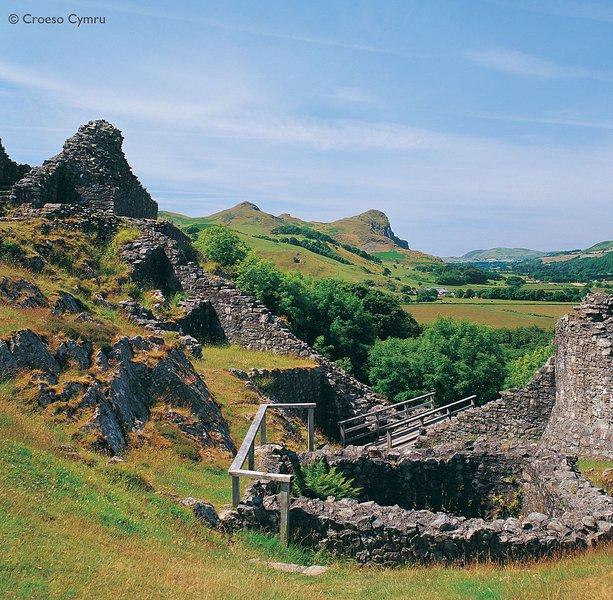 Castell y Bere, um castelo bela Welsh em Llanfihangel y Pennant e um 'deve visitar'