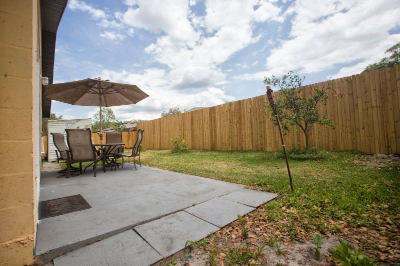 Private fenced backyard ~ 'Smoking' is only permitted on the back patio.