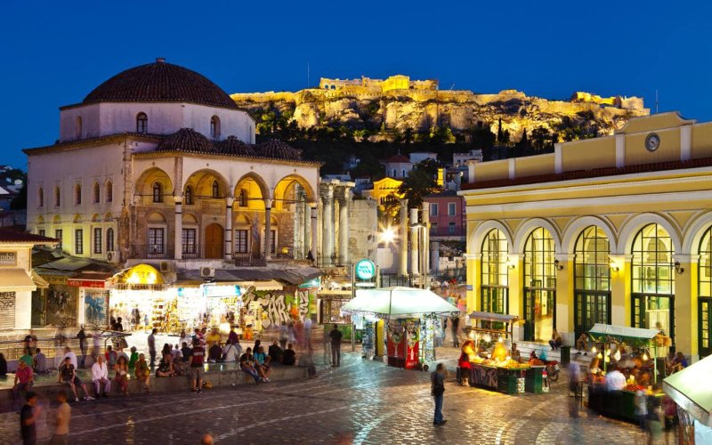 Monastiraki square is two minutes walk from the apartment