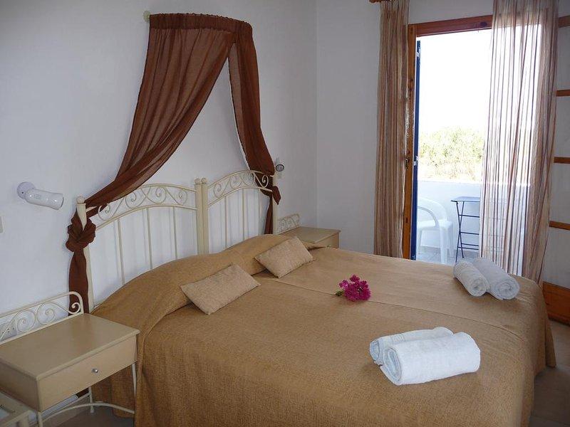 Kastraki Dunes Naxos Double Room with Sea View, holiday rental in Pyrgaki