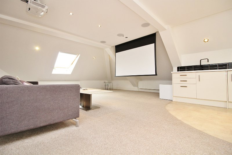 Lounge with cinema Screen