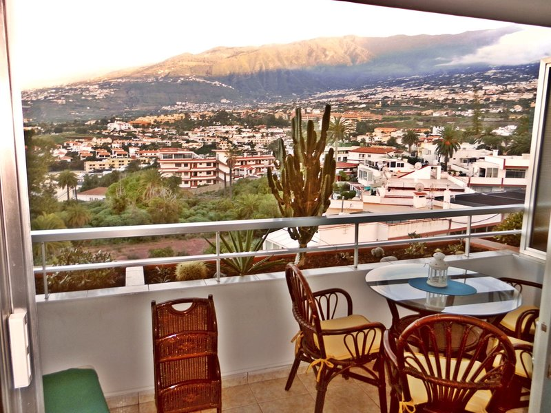 Stunning views of the Orotava Valley from the balcony