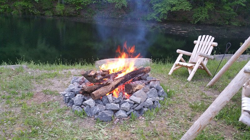 Firepit stocked with a reasonable amount of firewood.  Burn responsibly :)