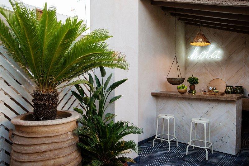 Roof terrace bar. Hola Seville!