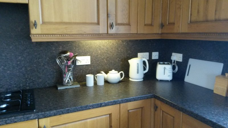 View of the appliances on the worktop in the kitchen diner